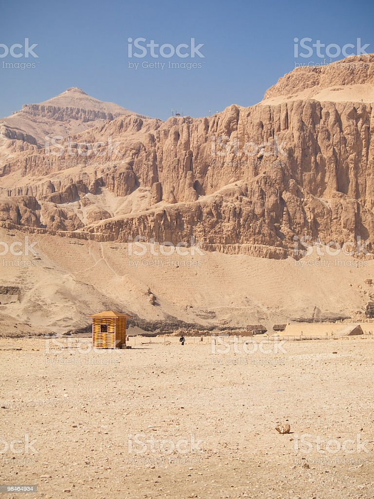 mountain back of hatshepsut Mortuary temple royalty-free stock photo