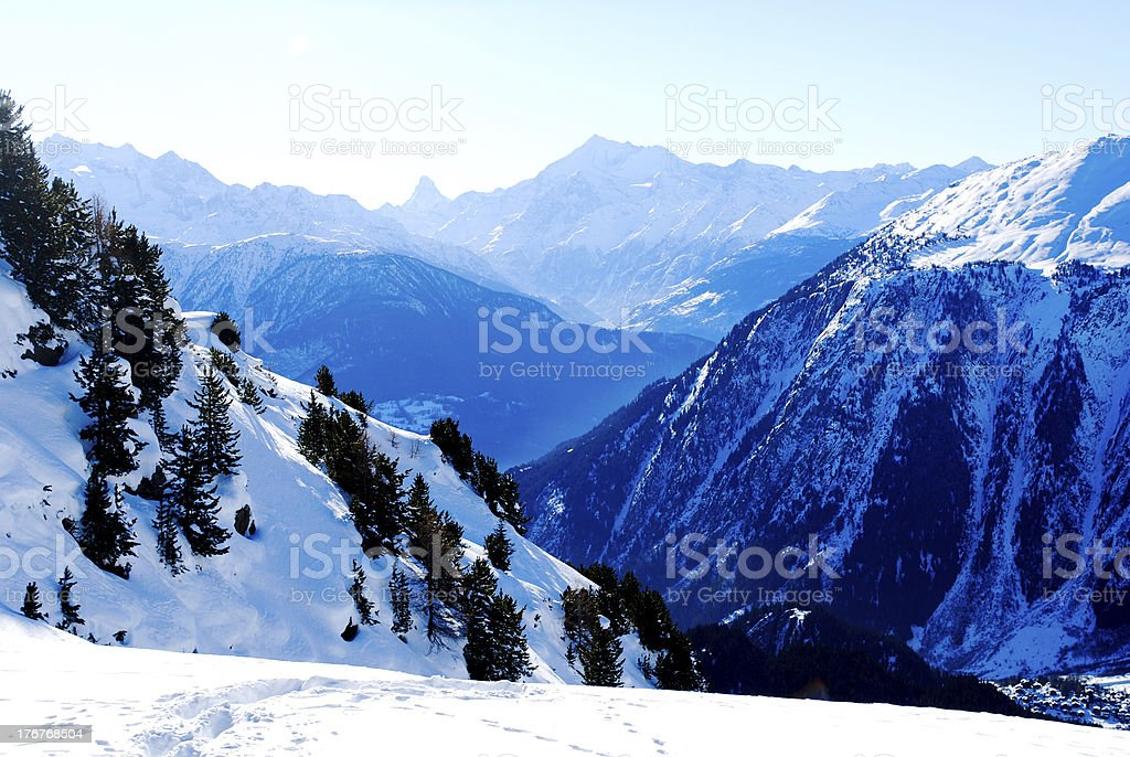 Mountain background in Alps royalty-free stock photo