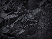 Mountain background texture. Close-up. Black rock background. Dark gray stone background.
