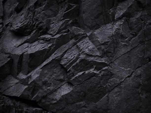 산 배경 텍스처입니다. 클로즈업. 검은 바위 배경입니다. 어두운 회색 돌 배경입니다. - 바위 뉴스 사진 이미지