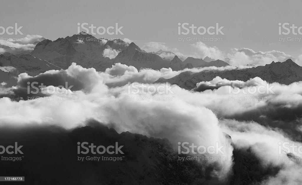 mountain backlight royalty-free stock photo