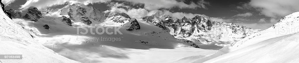 Mountain Bernina Piz Palü Glacier Pers royalty-free stock photo