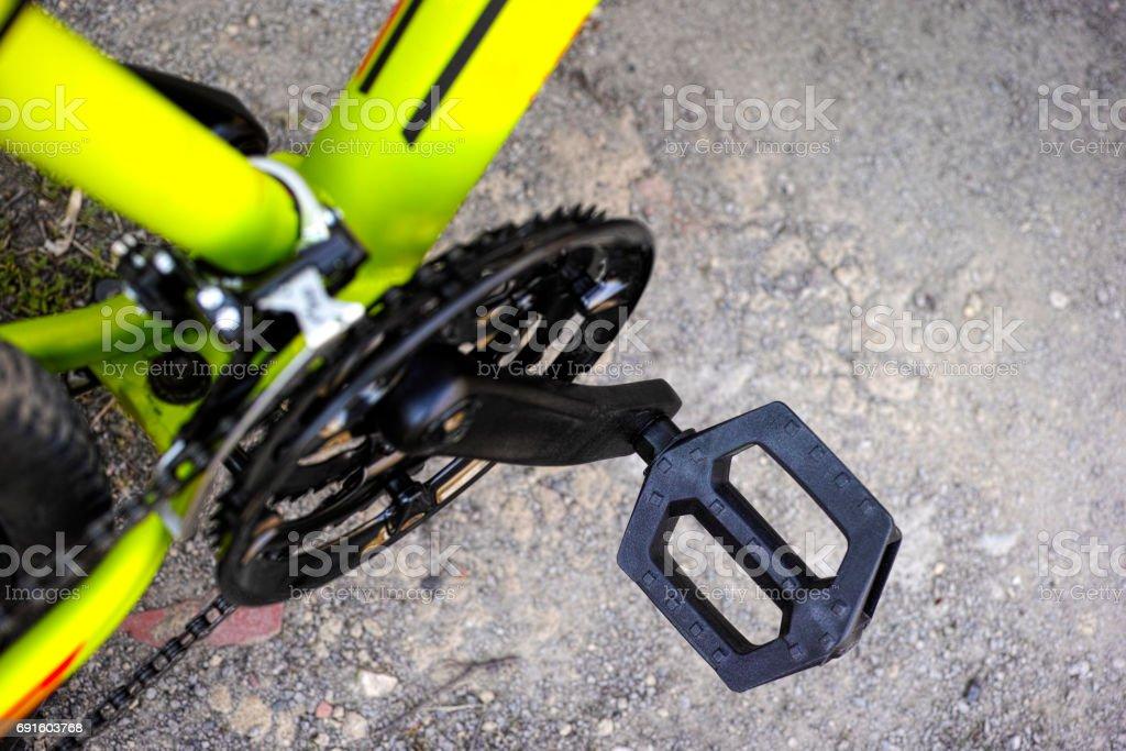 Mountain bicycle pedal. stock photo