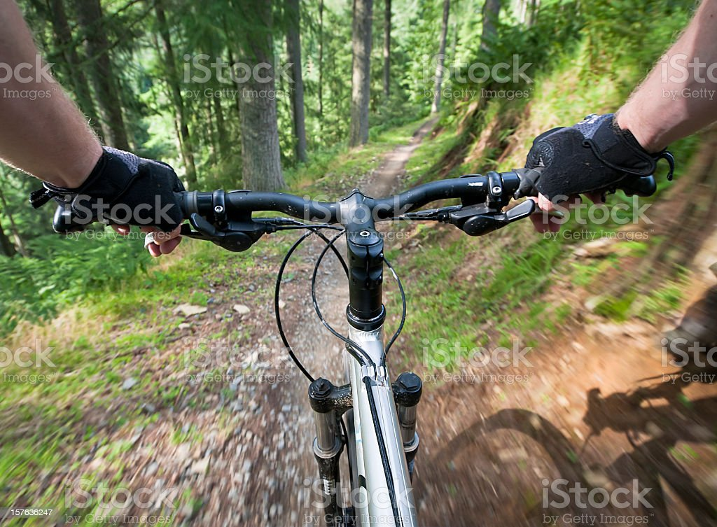 Mountain Bike Action stock photo