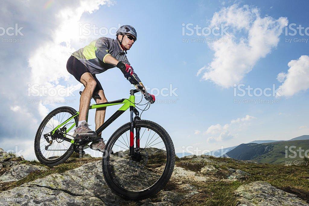 Mountain Bike Addiction stock photo