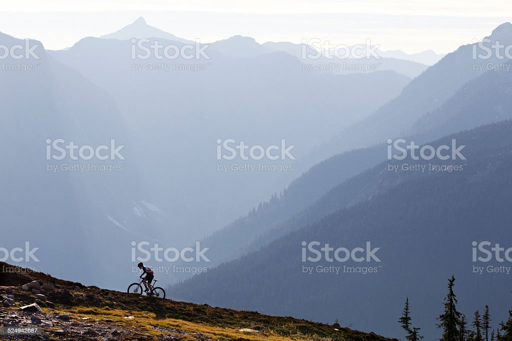 Mountain Bike Climb stock photo