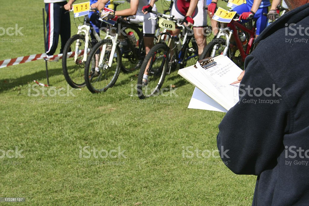 Mountain bike competition royalty-free stock photo