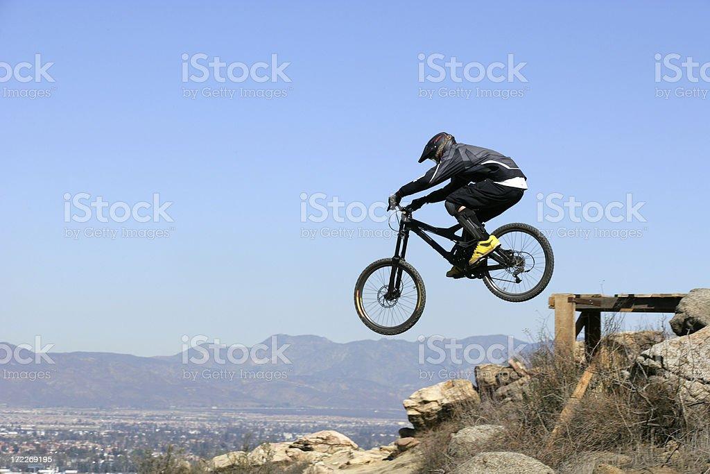 Mountain Bike Drop-off royalty-free stock photo