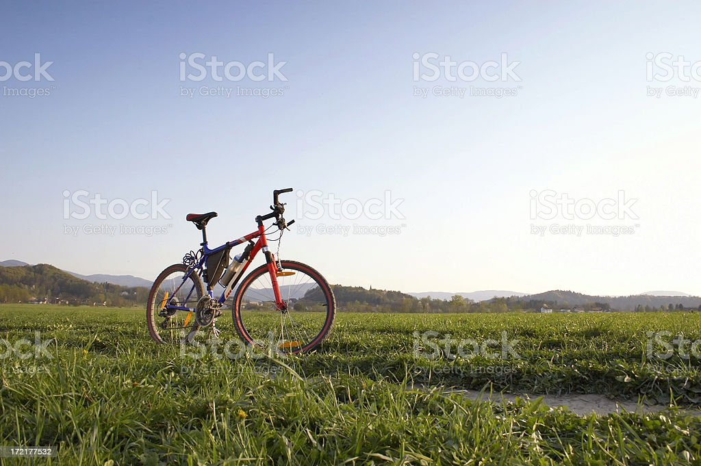 Mountain bike in scenic shoot royalty-free stock photo