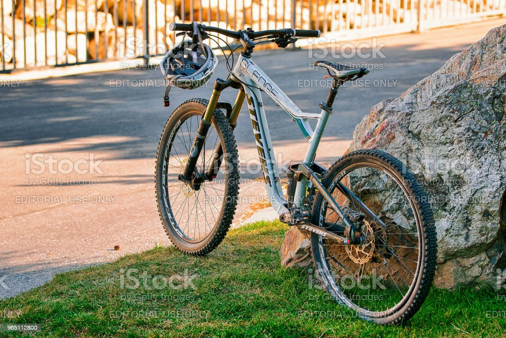 Mountain bike in the street CH royalty-free stock photo