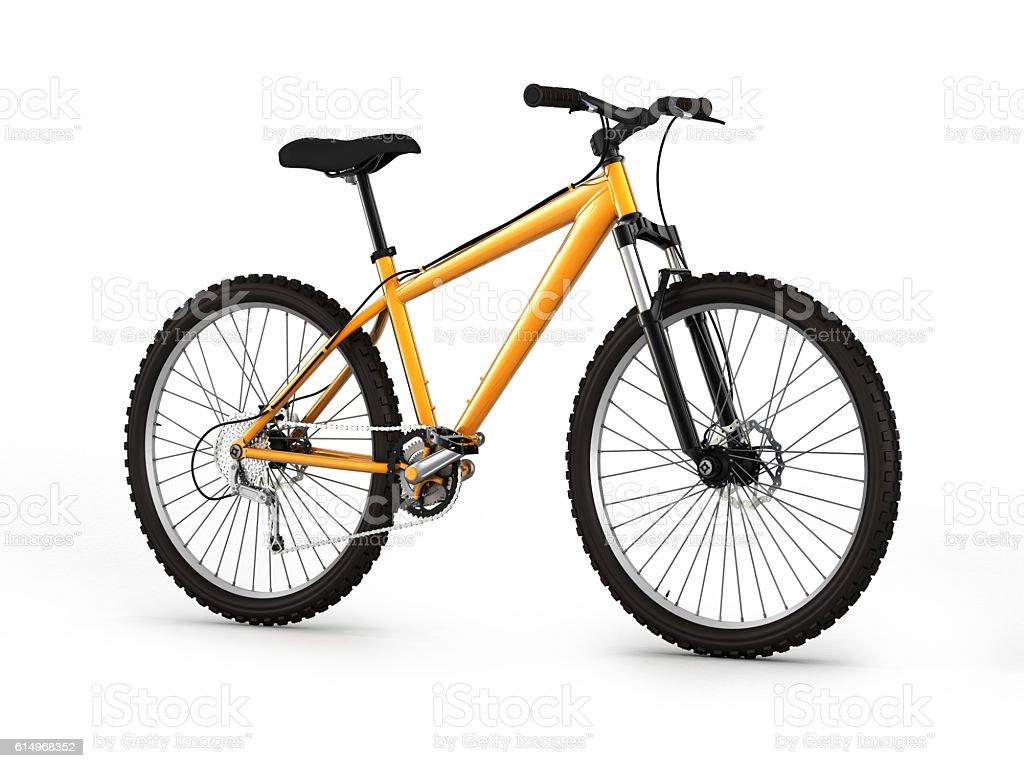 mountain bike isolated on white background 3d illustration stock photo