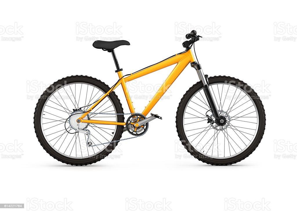 mountain bike isolated on white background 3d stock photo