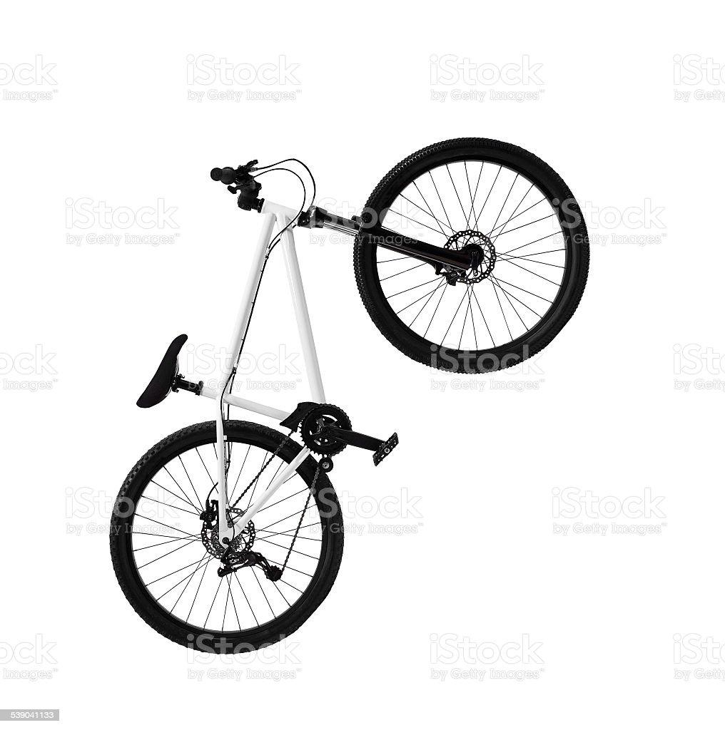 mountain bike isolated on white background stock photo