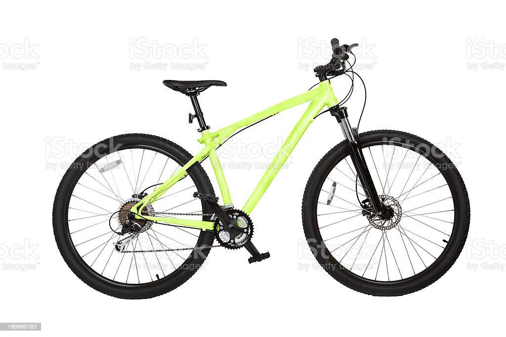 Mountain bike isolated on white stock photo