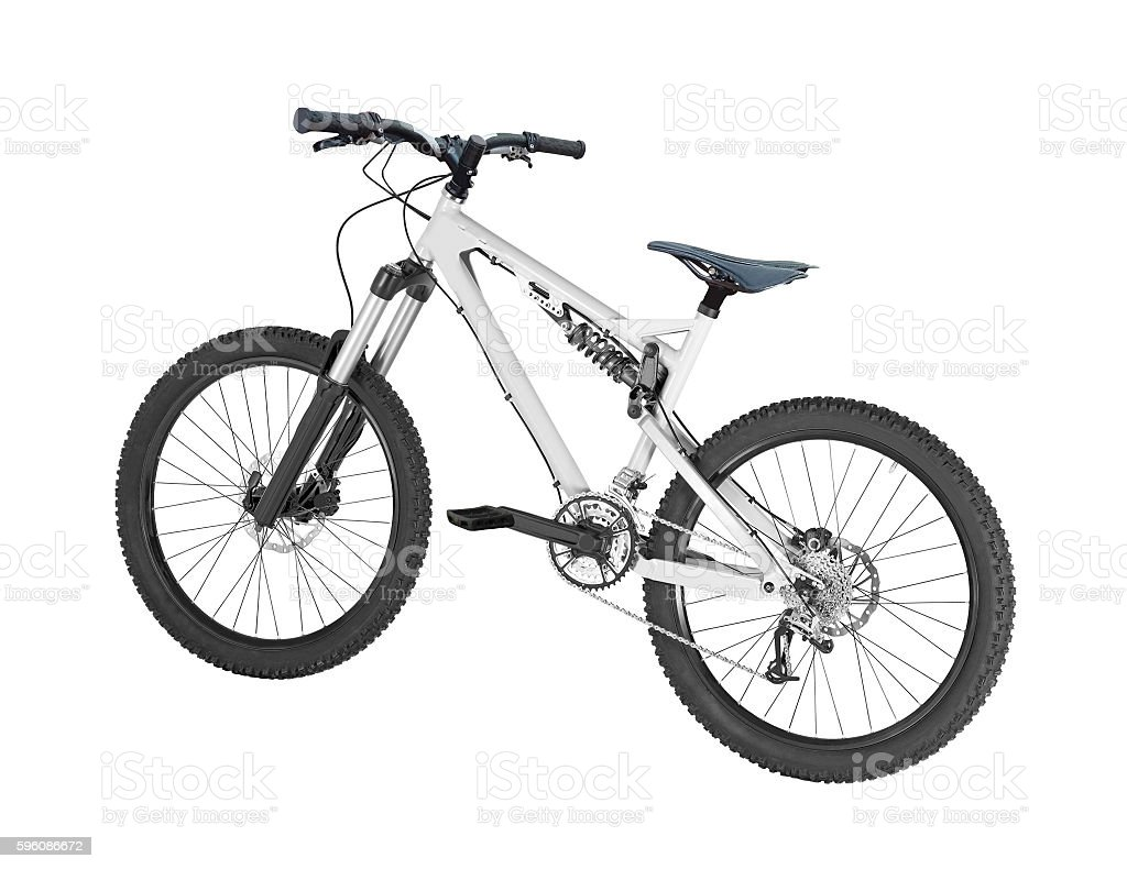 mountain bike isolated royalty-free stock photo