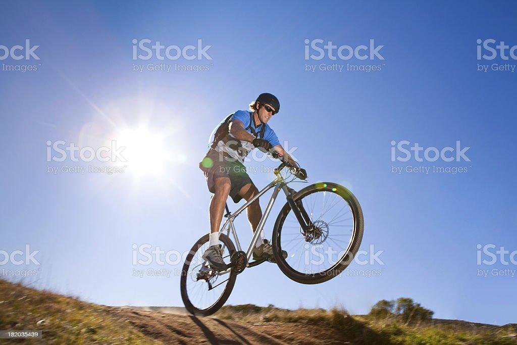 Mountain Bike Jumping royalty-free stock photo