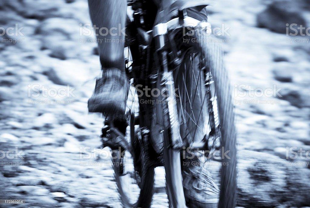 Mountain Bike Motion royalty-free stock photo