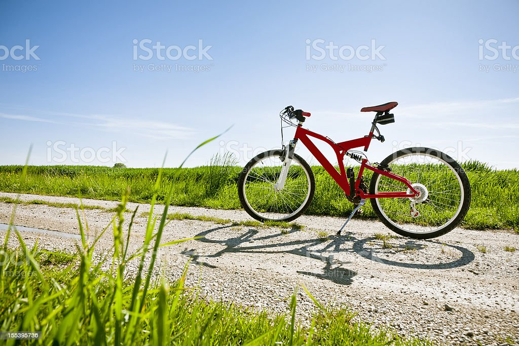 Mountain Bike on country road royalty-free stock photo