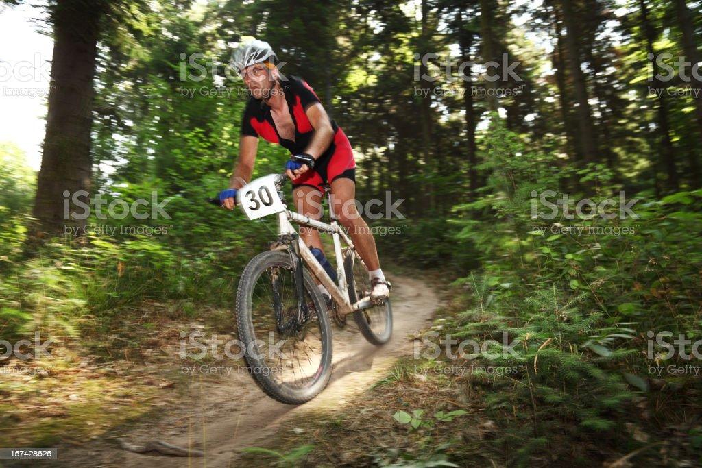 mountain bike race royalty-free stock photo