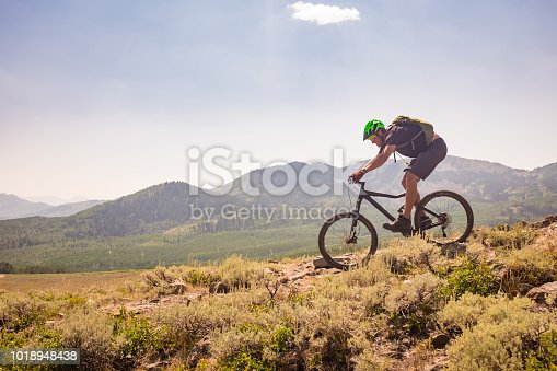 A high elevation mountain bike ride in Park City, Utah.