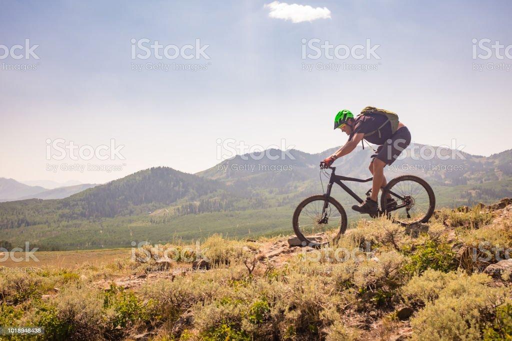 Mountain Bike Ride stock photo