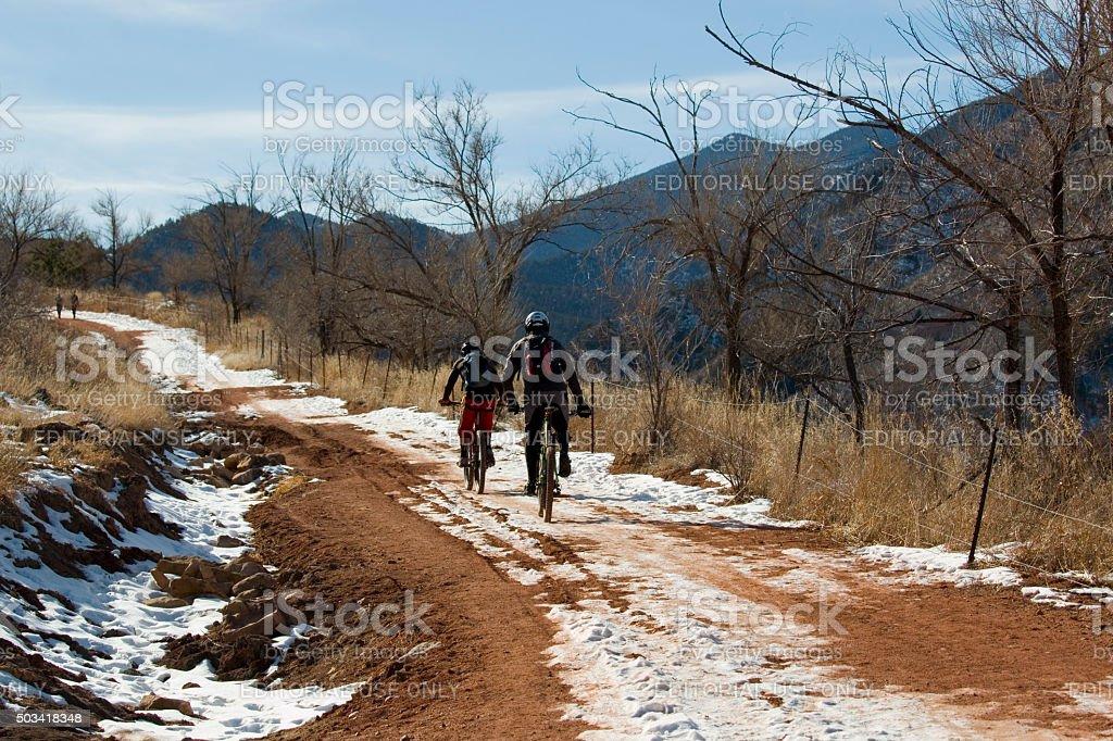 Colorado Springs, Colorado, USA - January 2, 2016: Athletes riding...