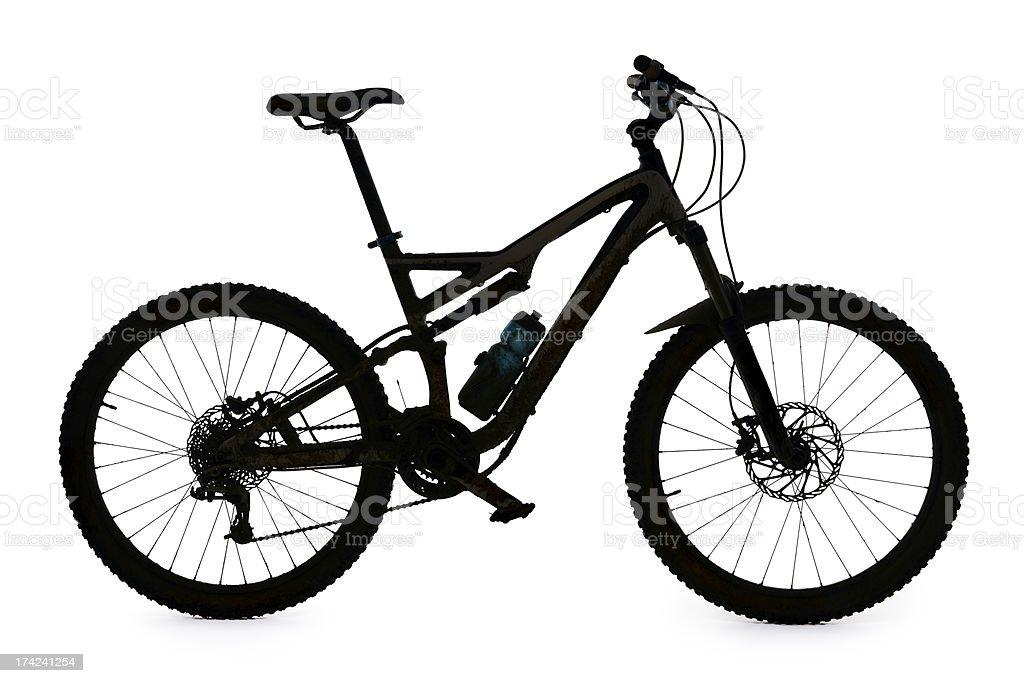 Mountain bike silhouette stock photo