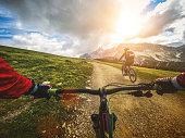 istock Mountain Bike: Single Trail in two 488211302