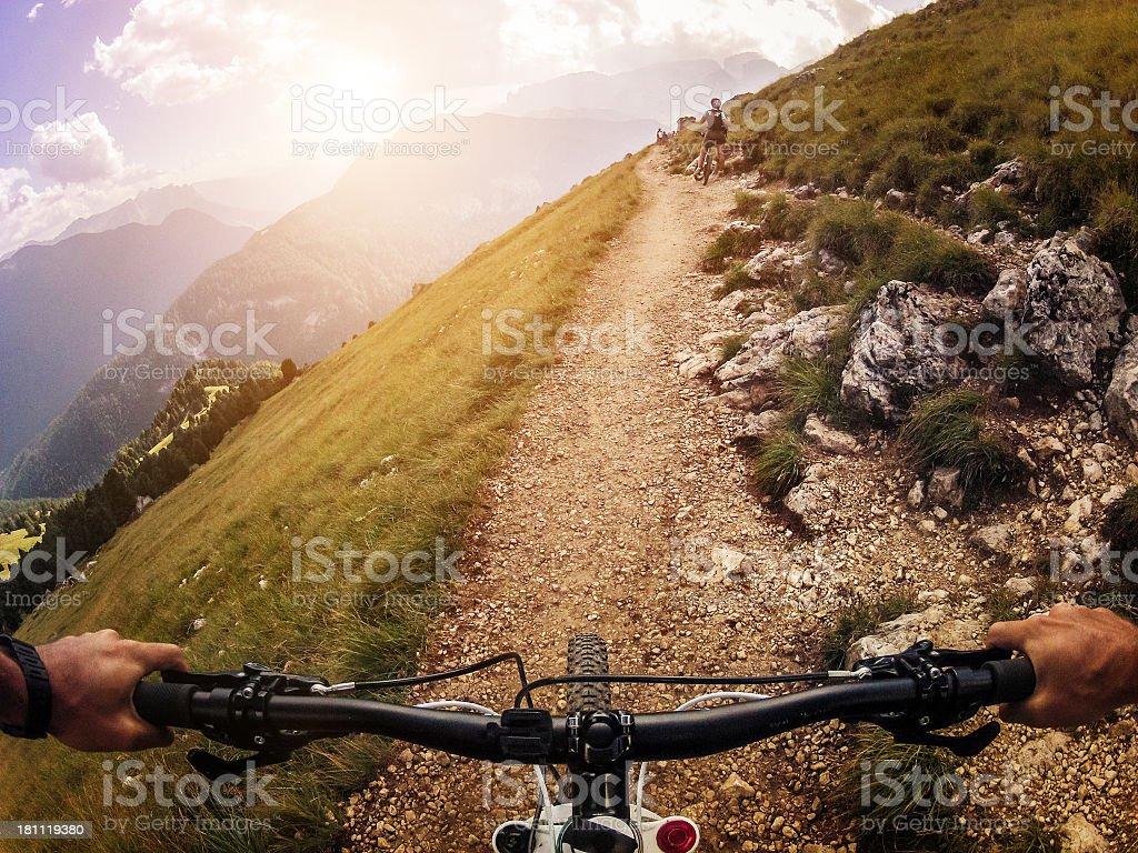 Mountain Bike: Single Trail royalty-free stock photo