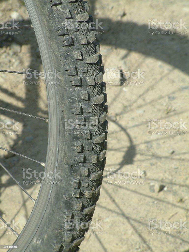 Mountain bike tires  -   close-up royalty-free stock photo