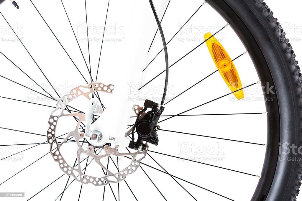 mountain bike wheel closeup royalty-free stock photo