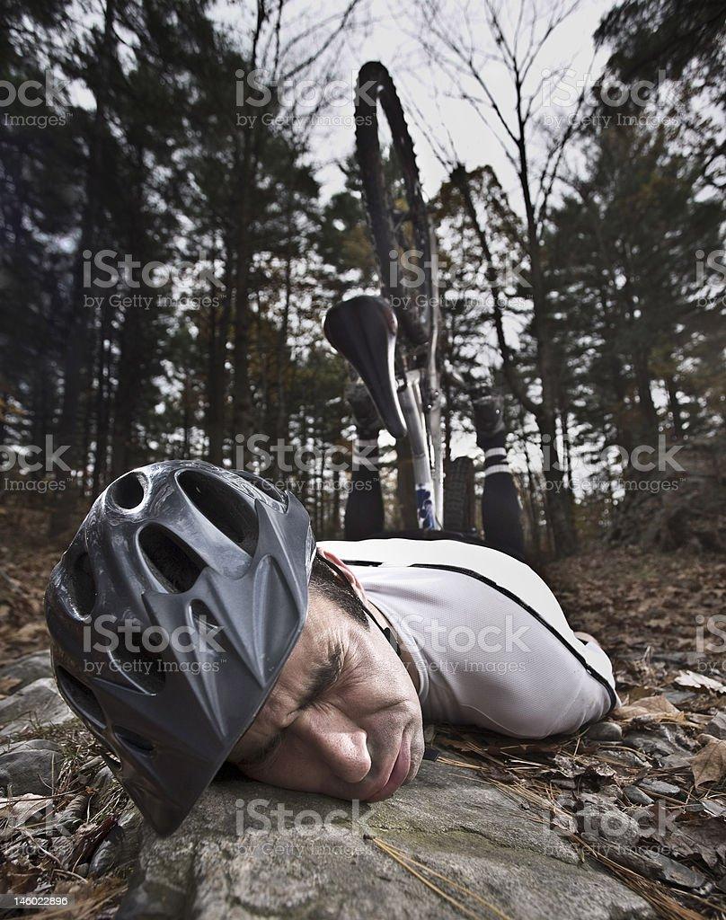 Mountain Bike Wipeout stock photo