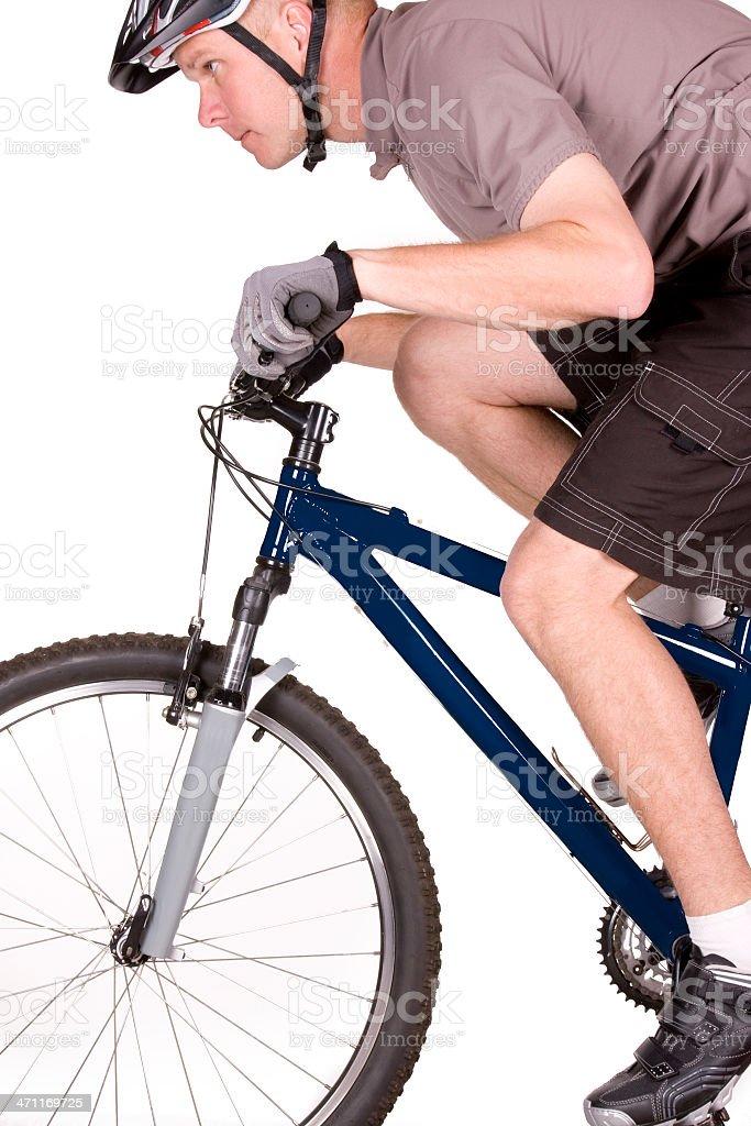 Mountain Biker Close Up royalty-free stock photo