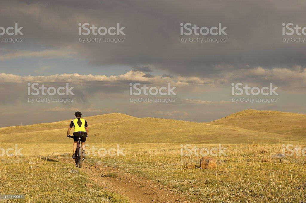 Mountain Biker in hills royalty-free stock photo