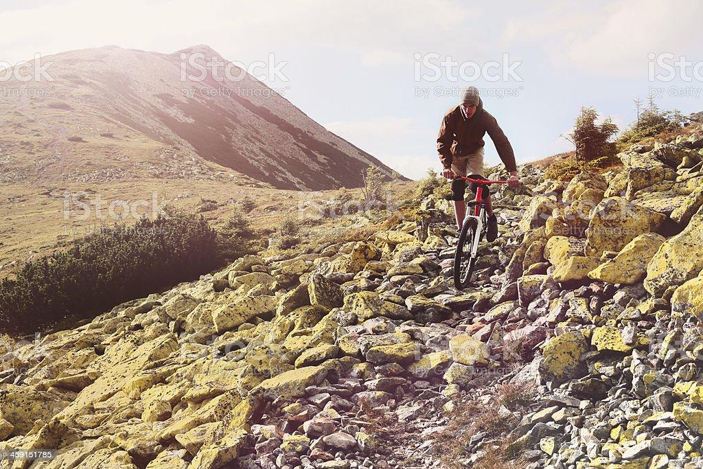 Mountainbiker auf dem Gipfel. - Lizenzfrei 20-24 Jahre Stock-Foto