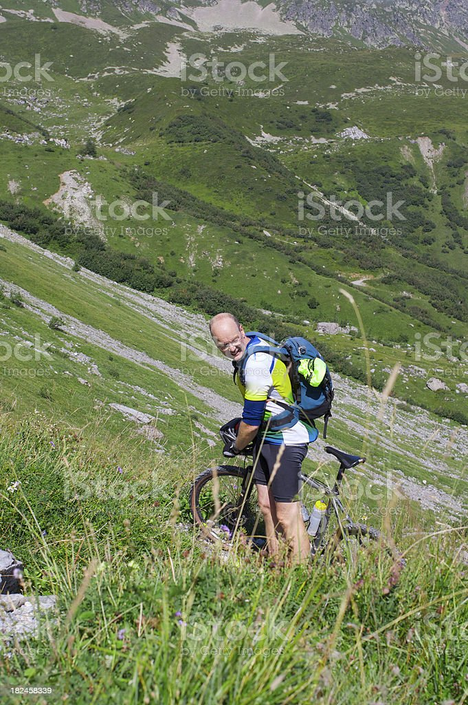 Mountain Motociclista foto royalty-free