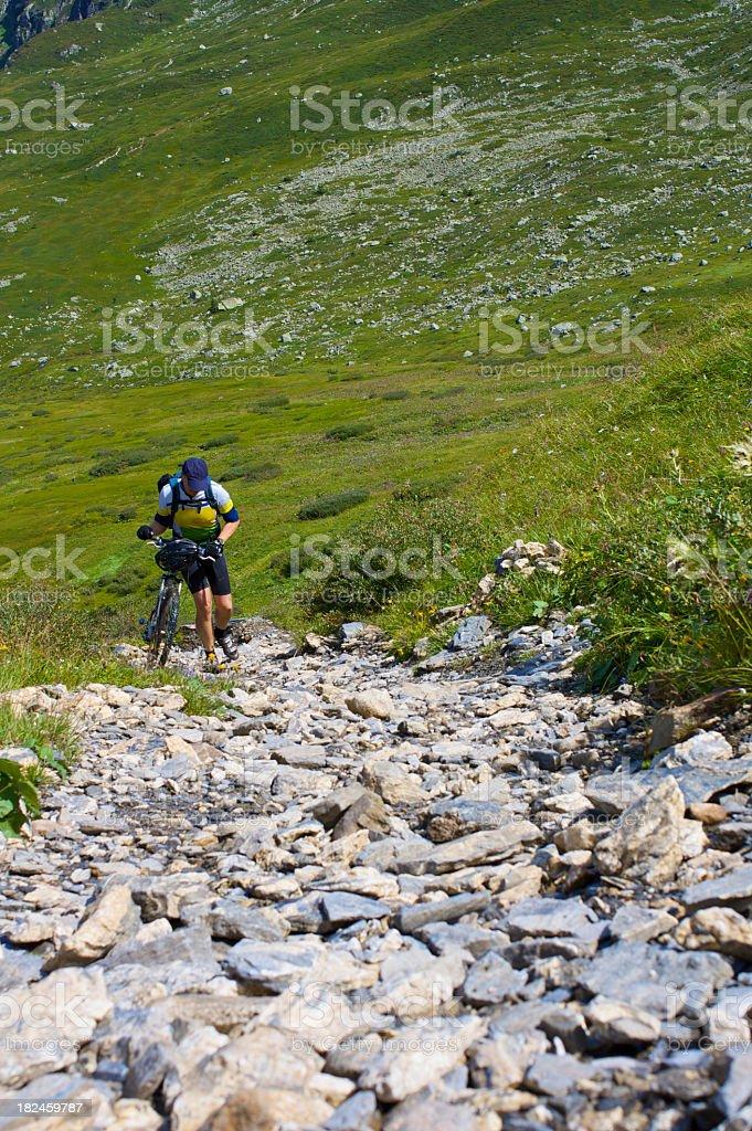 Ciclismo de montaña foto de stock libre de derechos