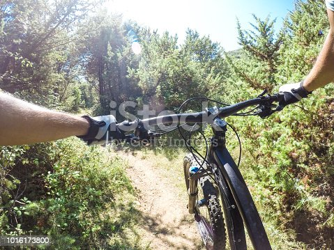 Point of view mountainbike