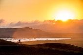 Exploring mountain biking in Paracas national reserve, Peru.