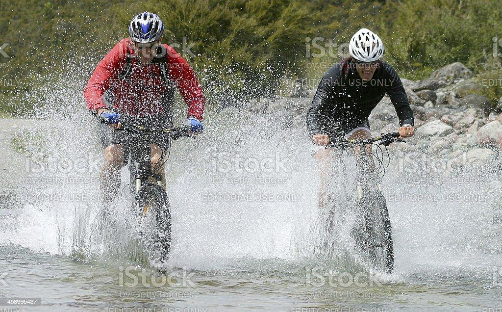 Mountain Bikers, Nelson, New Zealand royalty-free stock photo