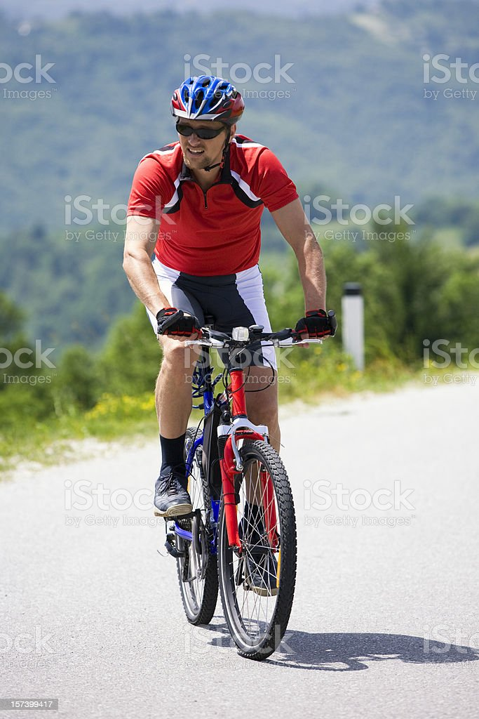Mountainbiker royalty-free stock photo