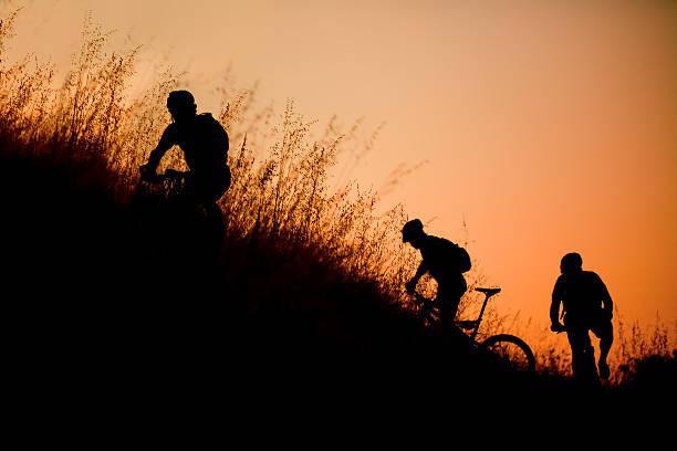 Mountain Bikers stock photo