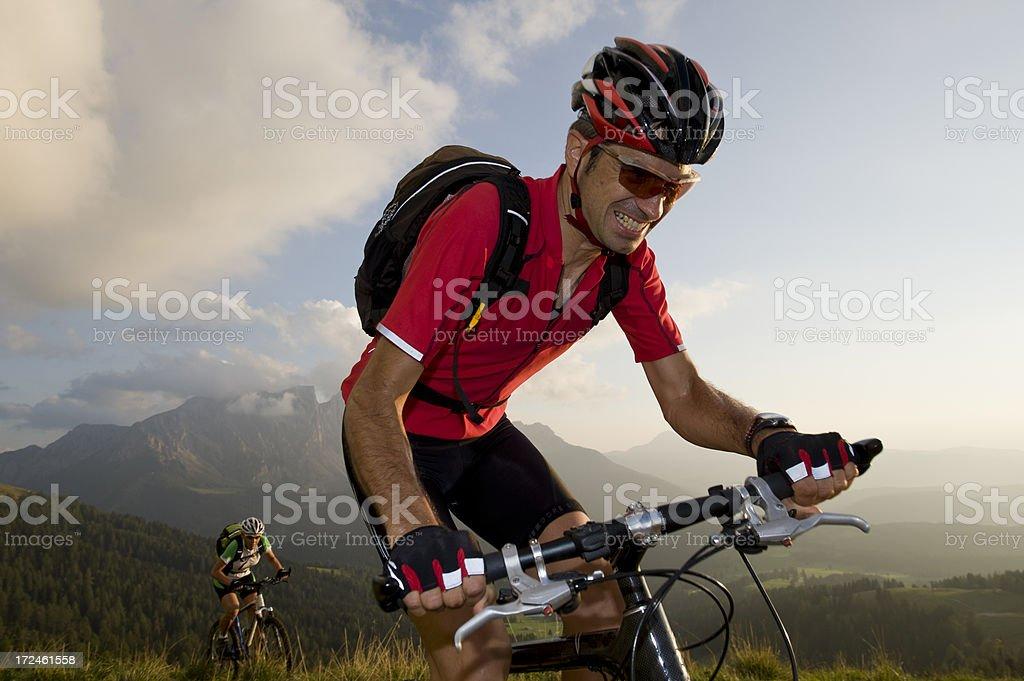 Mountainbiker mit emotion – Foto