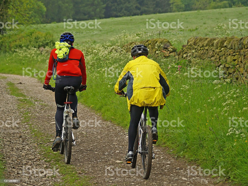 Mountain Biking 5 royalty-free stock photo