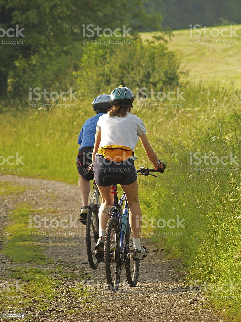 Mountain Biking 7 royalty-free stock photo