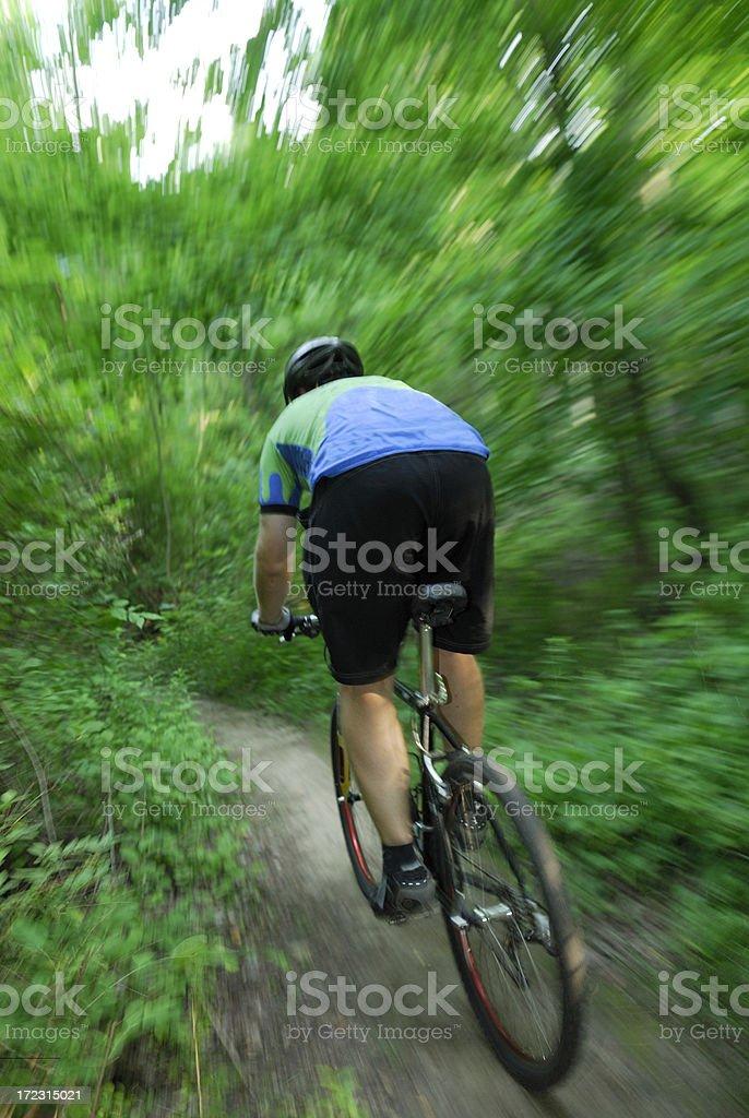 Mountain biking action royalty-free stock photo