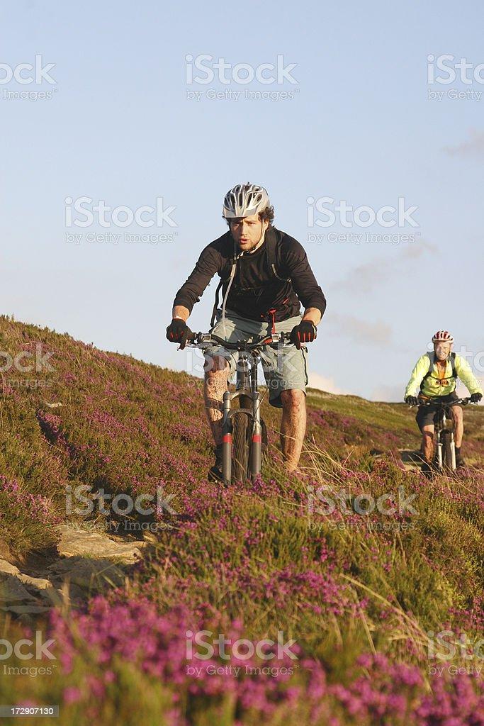 Mountain Biking, Bleaklow, Peak District National Park royalty-free stock photo