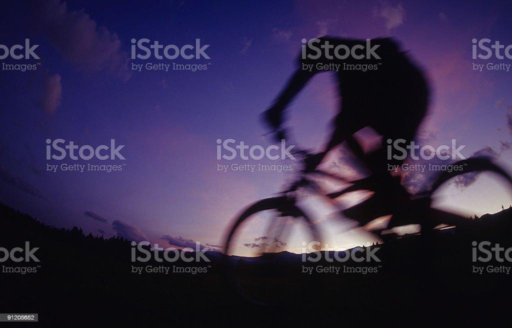 Mountain Biking Blur royalty-free stock photo