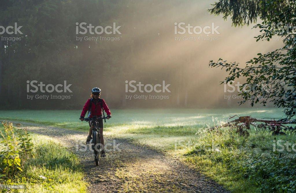 Mountainbiken in Österreich - Lizenzfrei Abgeschiedenheit Stock-Foto