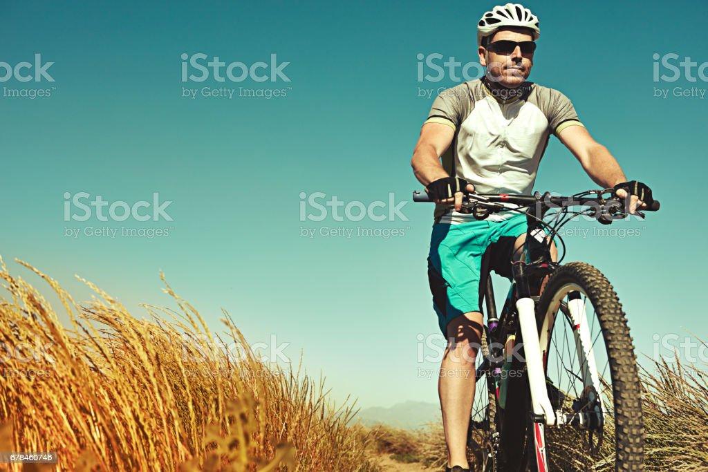 Mountain biking is my life royalty-free stock photo